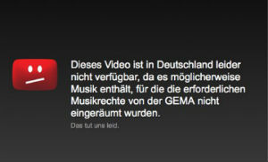 Youtube GEMA sperre